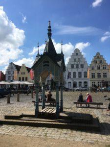 der Marktplatz in Friedrichstadt
